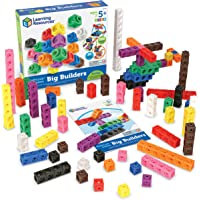 Learning Resources MathLink Cube Big Builder, 200 Pieces,Multi,LER9291