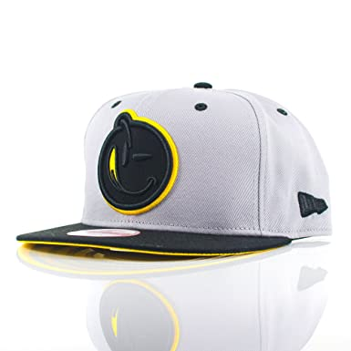 f1df36692a0 Yums New Era 9FIFTY x Bands  Grey Black Yellow Snapback Cap  Amazon ...