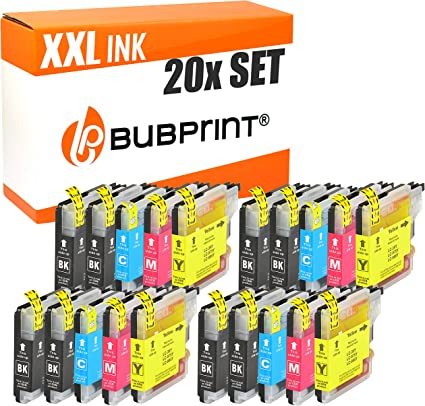 20 Bubprint Druckerpatronen Kompatibel Für Brother Lc 985 Für Dcp J125 Dcp J140w Dcp J315w Dcp J515w Mfc J220 Mfc J265w Mfc J410 Mfc J415w Multipack Bürobedarf Schreibwaren