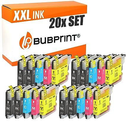 Bubprint Cartuchos de Impresora Compatible con Brother lc-985 - (5) 20 Set