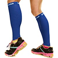 Physix Gear Sport Compression Calf Sleeves for Men & Women (20-30mmhg) - Best Footless Compression Socks for Shin…