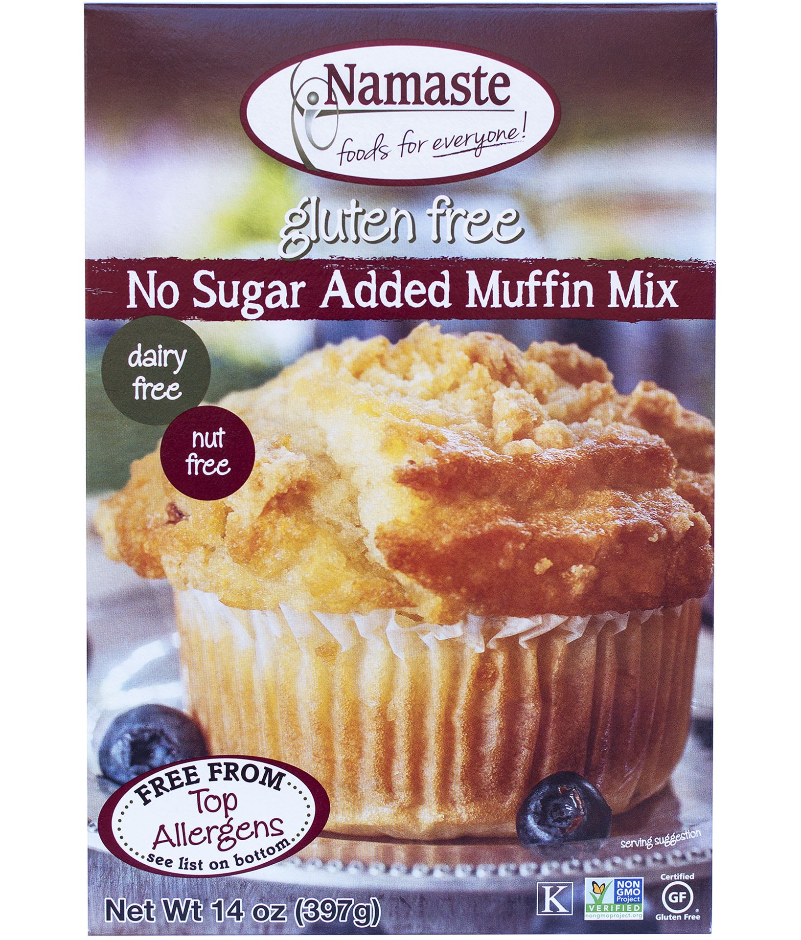 Namaste Foods, Gluten Free Sugar Free Muffin Mix, 14-Ounce Bags (Pack of 6) by Namaste Foods