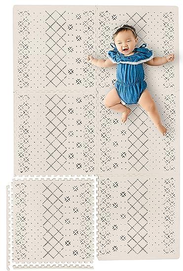 Amazon.com: Elegante alfombra de juego para bebé con gruesas ...