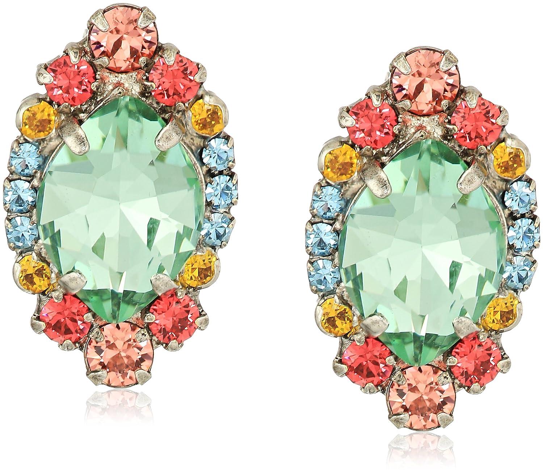 Sorrelli Womens Vivid Horizons Navette Clustered Stud Earrings, Blue, 1 by Sorrelli