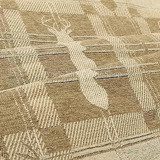 Cotone morbido come piccolo Stag stile tappezzeria tessuto dorato colore beige, Beige/Gold, 10cm x 8cm Sample