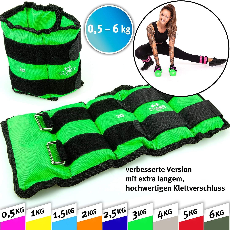 2X 3kg-2x 4kg-2x 5kg-2x 6kg 2X 2kg artes marciales C.P pesa pies y mu/ñeca 2X 1,5kg 2X 1kg crossfit aer/óbicos yoga Sports Pu/ños de peso fitness 2X 2,5kg gimnasia 2X 0,5kg 2,5