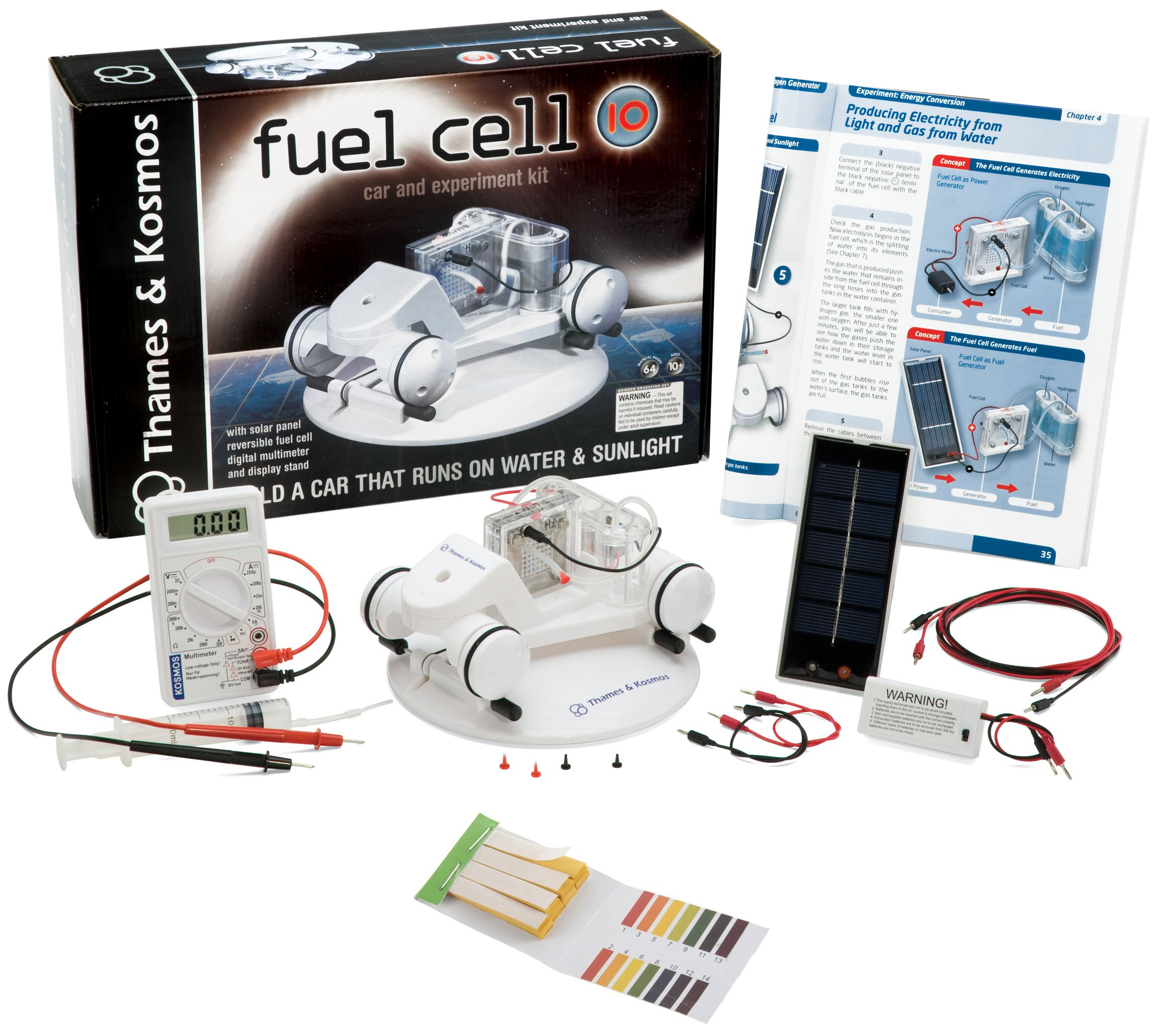 Thames & Kosmos 620318 Fuel Cell 10 Science Kit with 50-Pack Litmus Paper PH Strips