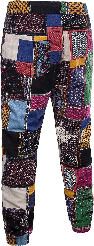Abetteric Men Summer Harem Pants Cotton Linen Basic Style Casual Pants