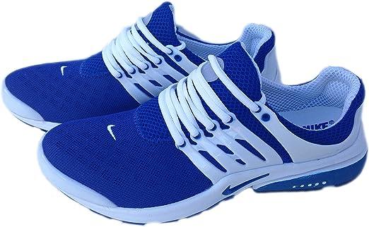 Nike Air Presto Blanco Azul para Mujer tamaño 5,5 Zapatillas Shox Zapatos: Amazon.es: Deportes y aire libre