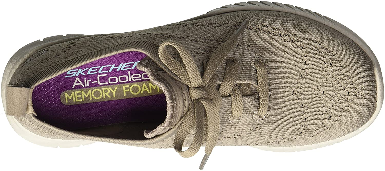 Skechers Women's Wave-Lite Sneaker B076TM88B9 7 B(M) US|Taupe
