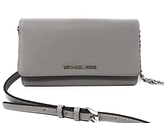 6420dccb3de6 Amazon.com: Michael Kor Jet Set Large Phone Crossbody Wallet Pearl ...