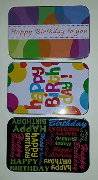Image Unavailable Not Available For Color Happy Birthday Gift Card Tins