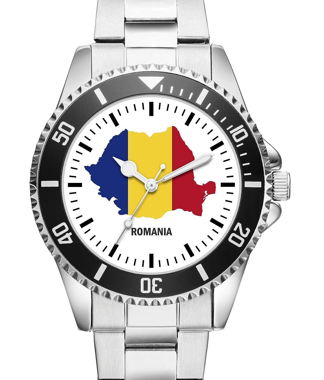 Rumania país de contorno reloj - Reloj de Pulsera 1252: Amazon.es: Relojes