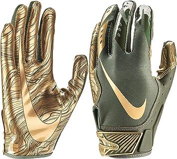 24cd0522a18 Nike Vapor Jet 5 Men s American Football Gloves Medium Olive  Amazon ...