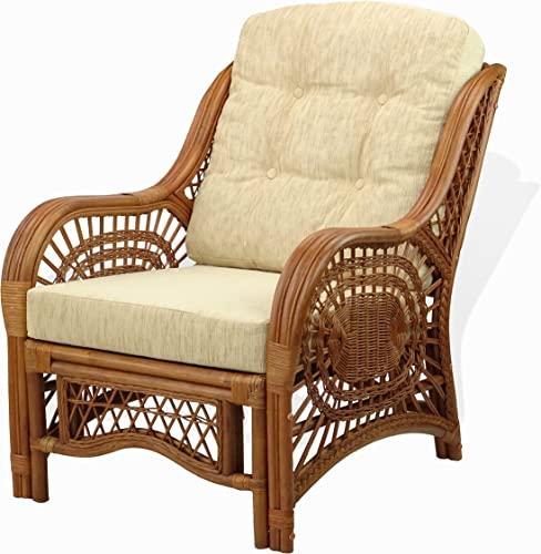Lounge Malibu Armchair ECO Natural Rattan Wicker Handmade Design