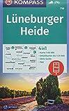 Lüneburger Heide: 4in1 Wanderkarte 1:50000 mit Aktiv Guide und Detailkarten inklusive Karte zur offline Verwendung in der KOMPASS-App. Fahrradfahren. (KOMPASS-Wanderkarten, Band 718)