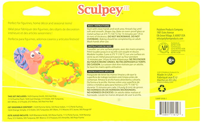 Amazon Sculpey Iii Multipack Classic Collection