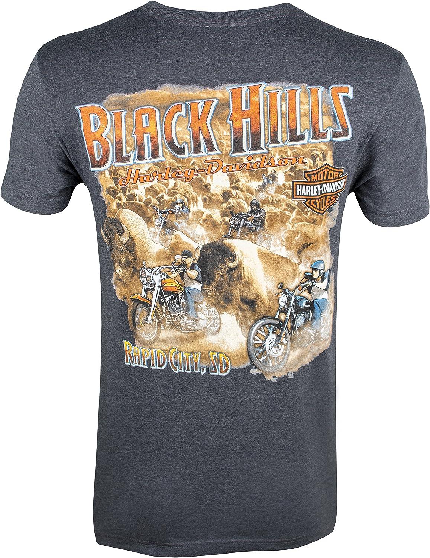 Harley-Davidson Black Hills Mens Buffalo Stampede T-Shirt