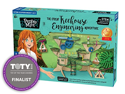 Thames Kosmos 626020 Pepper Mint In The Great Treehouse Engineering Adventure Science Experiment Kit