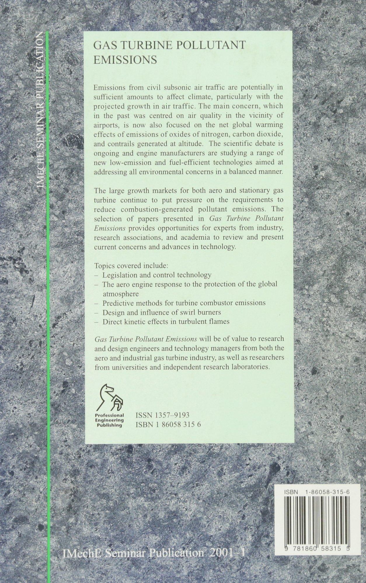 Gas Turbine Pollutant Emissions IMechE Seminar Publications