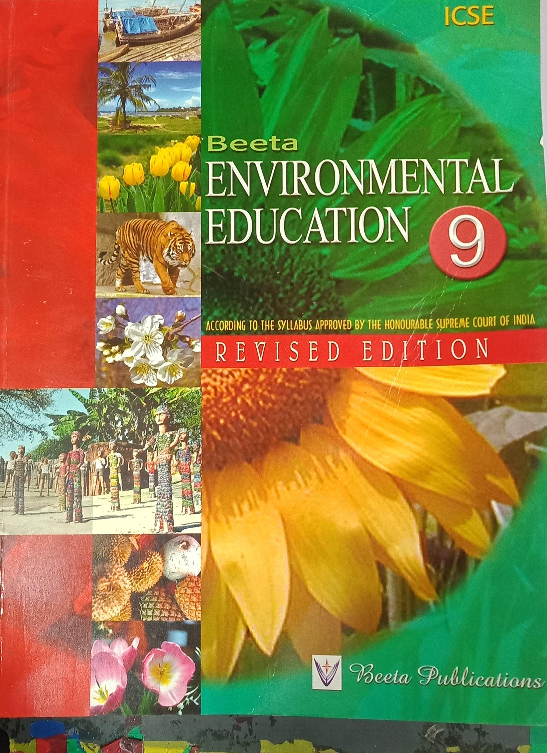 Icse 9th Environment Book