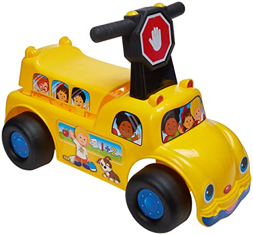 772e9fa7245 Amazon.com  Fisher-Price School Bus Ride-on Vehicle  Toys   Games