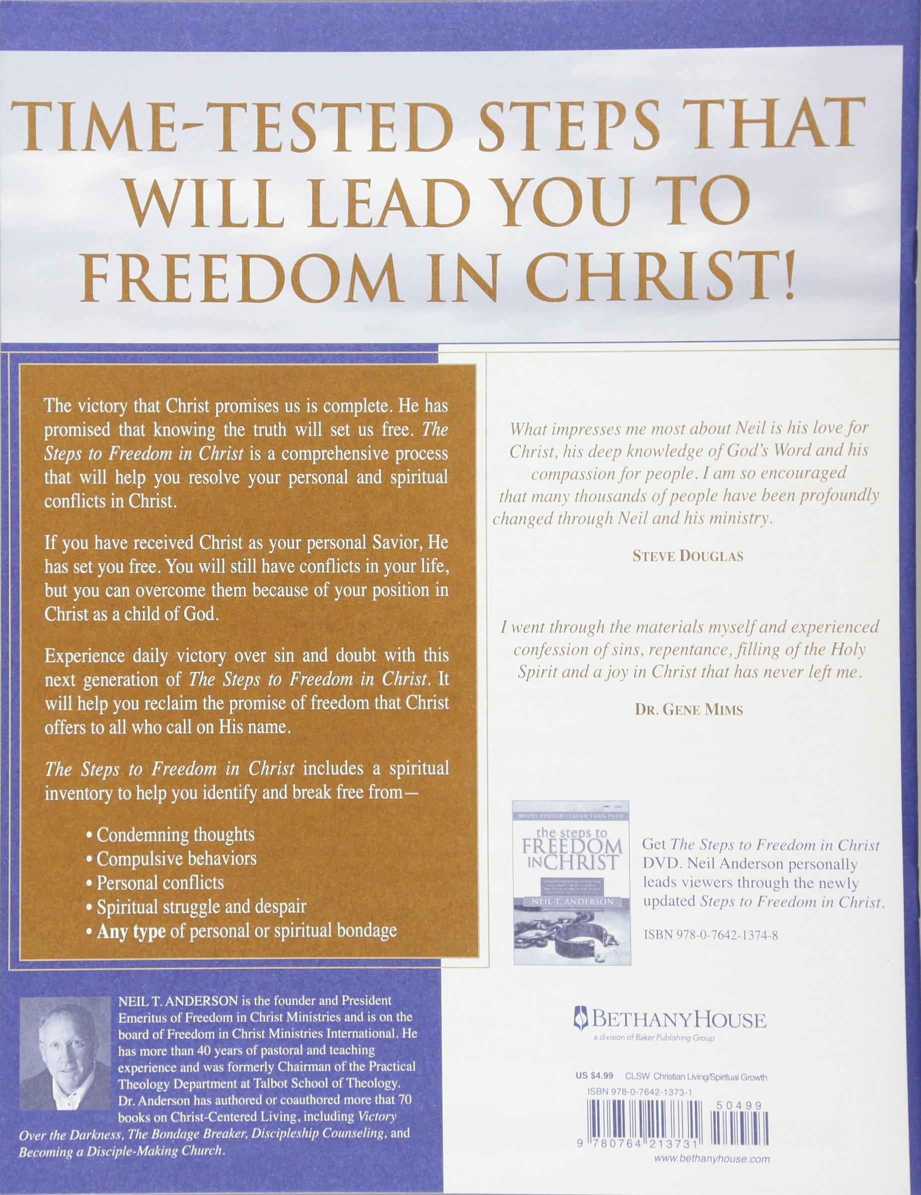 The Steps to Freedom in Christ Study Guide: A Step-By-Step Guide To