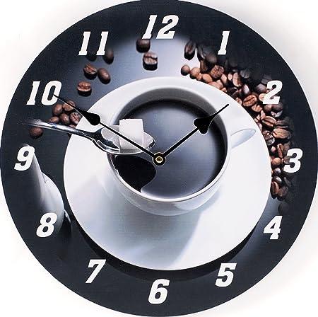 Tinas Collection Orologio Da Parete Orologio Shabby Chic Da Parete Orologio Muro Orologio Per Cucina Espresso Amazon It Casa E Cucina