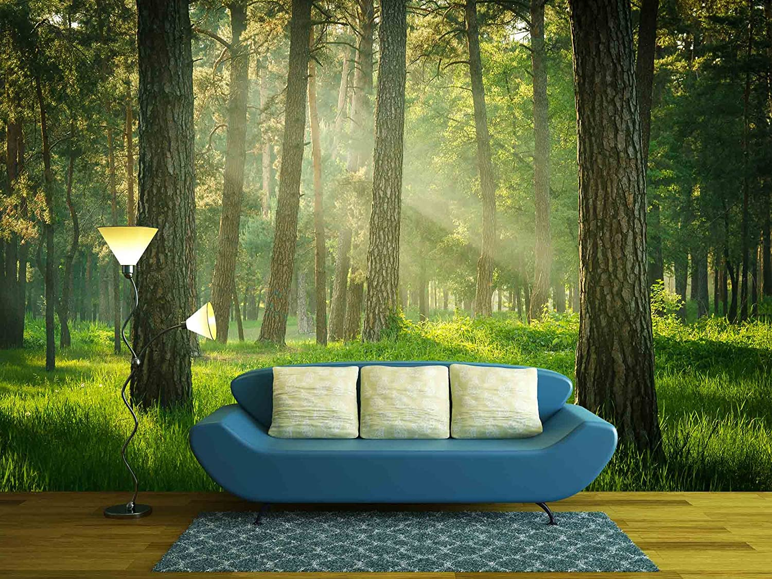 Wall26 Green Forest Wall Mural Home Decor 66x96