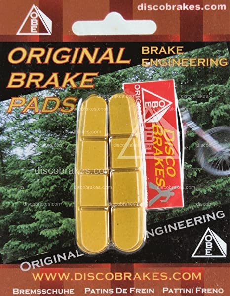 4 Pairs Shimano Dura-Ace Ultegra 105 Road Brake Pad Inserts BR-7700 7800 DiscoB by DiscoBrakes