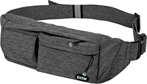 EOTW Fanny Pack Small Slim Waist Bag Travel Pocket Chest Bag for Men Women,with Stretchy Strap for Workout Vacation Hiking for iPhone 11 Pro Max X XR 7 8Plus,Galaxy Note10+ S10 S9