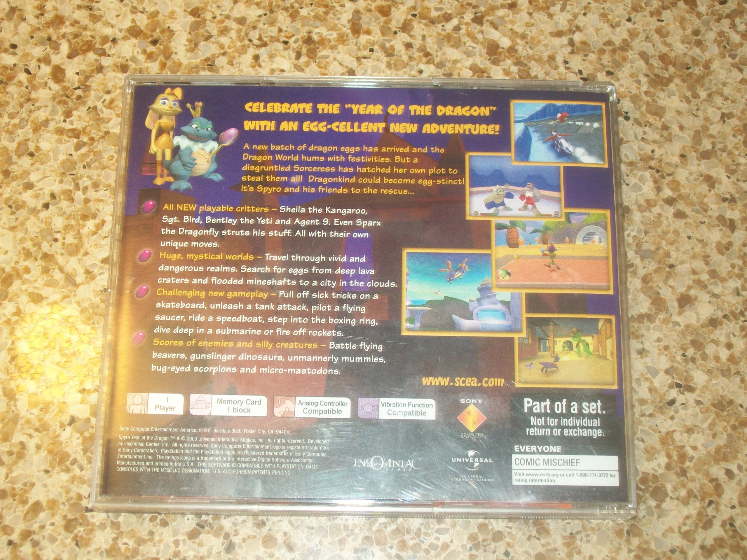Amazon com: SPYRO YEAR OF THE DRAGON PLAYSTATION VIDEO GAME