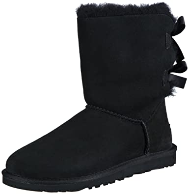 UGG Women's Bailey Bow Black Boot 12 B ...