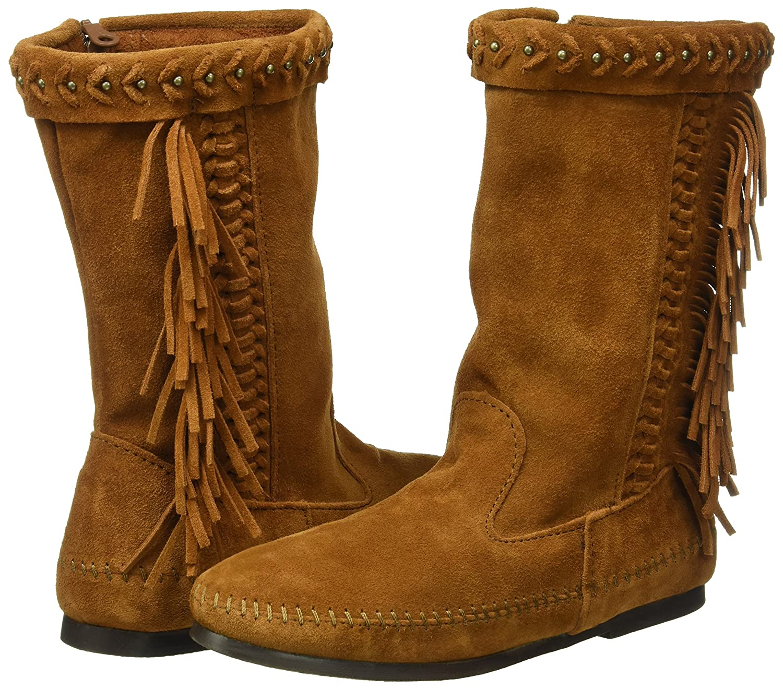 Minnetonka Women's Luna Fringe Boot B01BNYSYE0 11 B(M) US|Brown