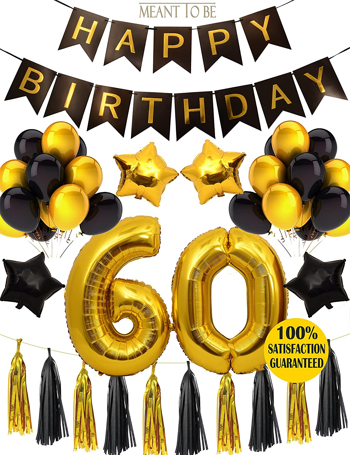 60%OFF 60th BIRTHDAY PARTY DECORATIONS KIT, 60th Birthday Party ...