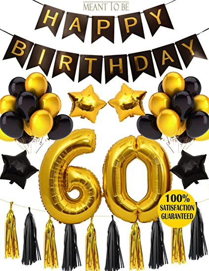 60th BIRTHDAY PARTY DECORATIONS KIT Birthday Party Supplies