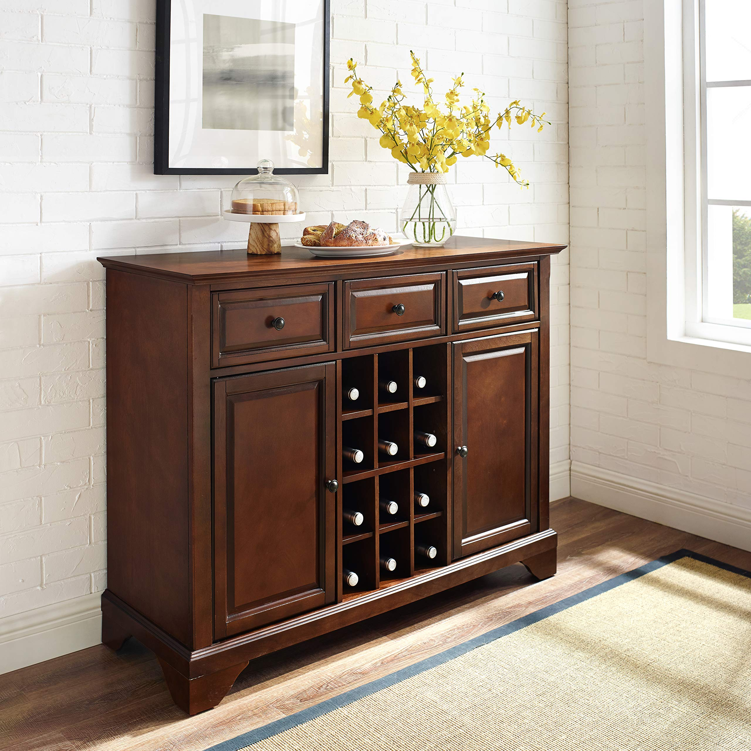 Crosley Furniture LaFayette Wine Buffet / Sideboard - Vintage Mahogany by Crosley Furniture (Image #6)