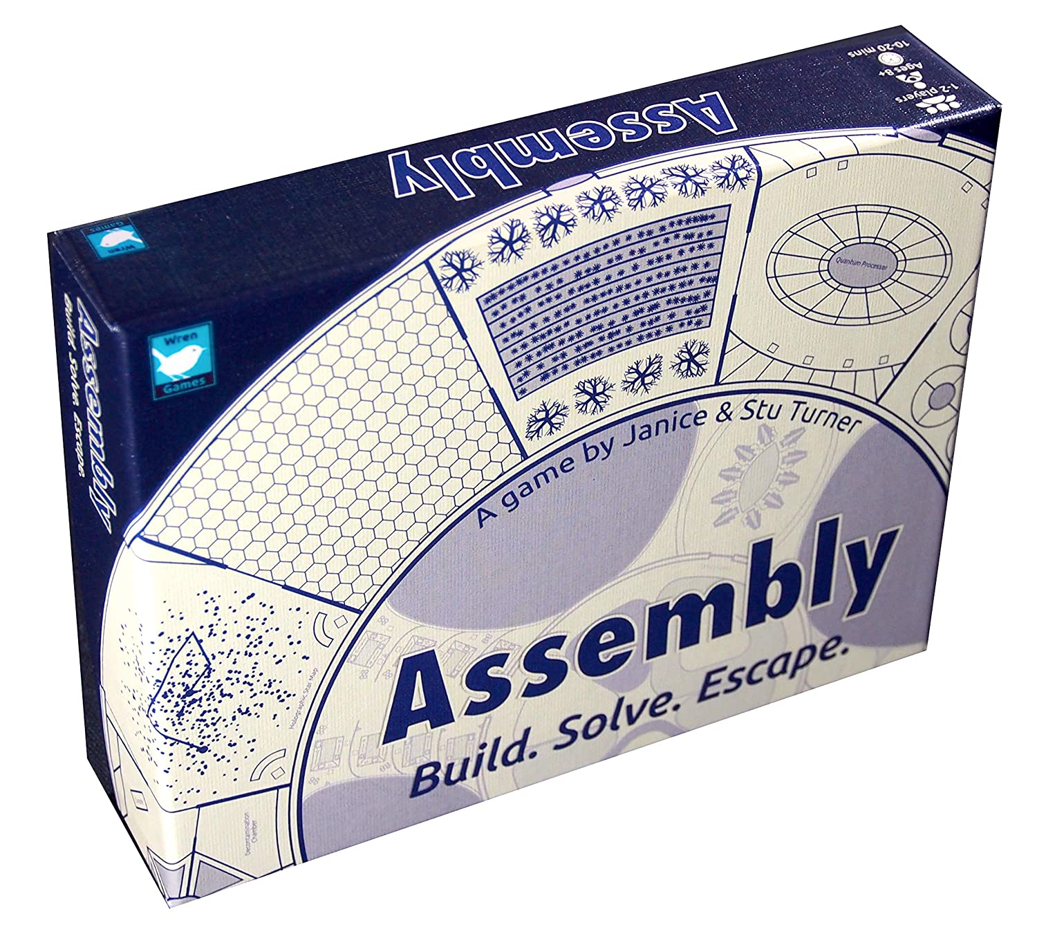 An Addictive /& Mind-Bending Escape Puzzle Card Game 2-player Cooperative or Solo Wren Games Assembly Board Game