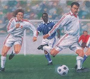 Vintage Soccer Football Game Sports Wallpaper Border Retro Design Roll 15 X 10 Amazon Com