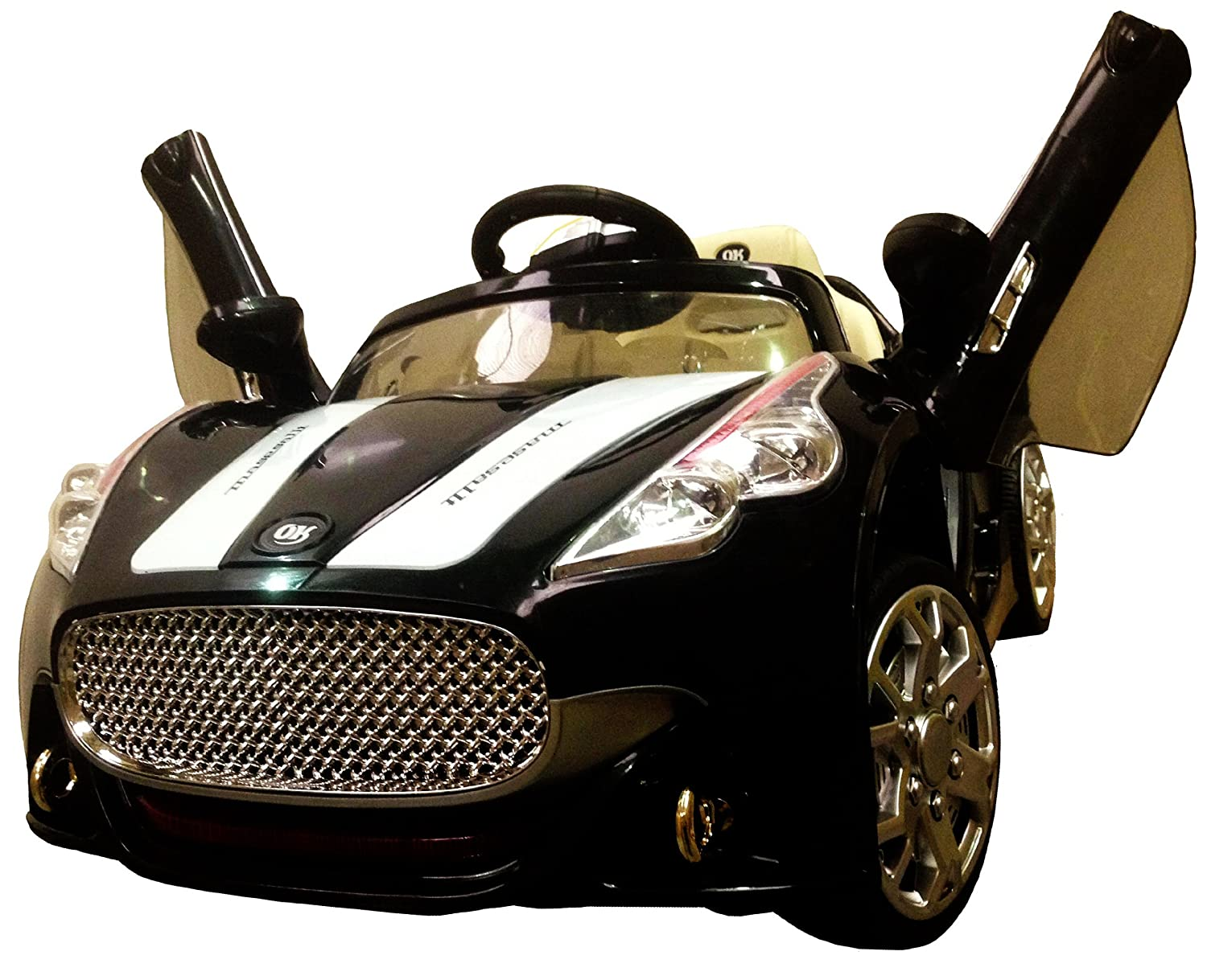 new design maserati style black 12v twin motors kids ride on car with 4 wyas parental remote control openable wing doors mp3 input maserati black12v