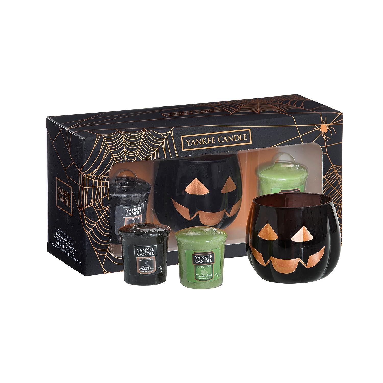 YANKEE CANDLE Votive Cartone e Cera Set Regalo di Halloween Nero