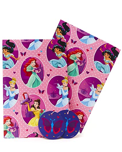 UK Greetings Disney Princess Papel de regalo - Disney Papel ...