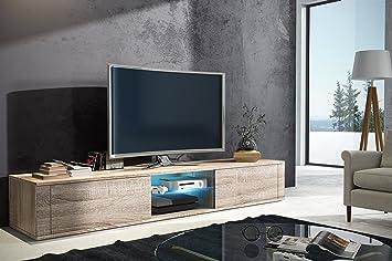 Elegant Meuble TV Avec Support Sonoma Mat LED