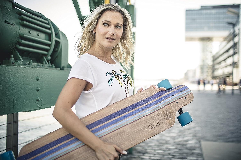 Skateboard 12810 HUDORA Longboard Blacks Beach ABEC 7