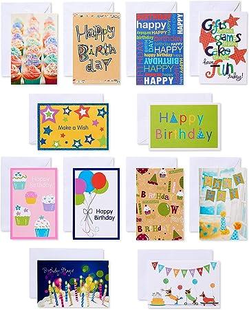 Admirable Amazon Com American Greetings Kids Birthday Cards Assorted 12 Funny Birthday Cards Online Alyptdamsfinfo