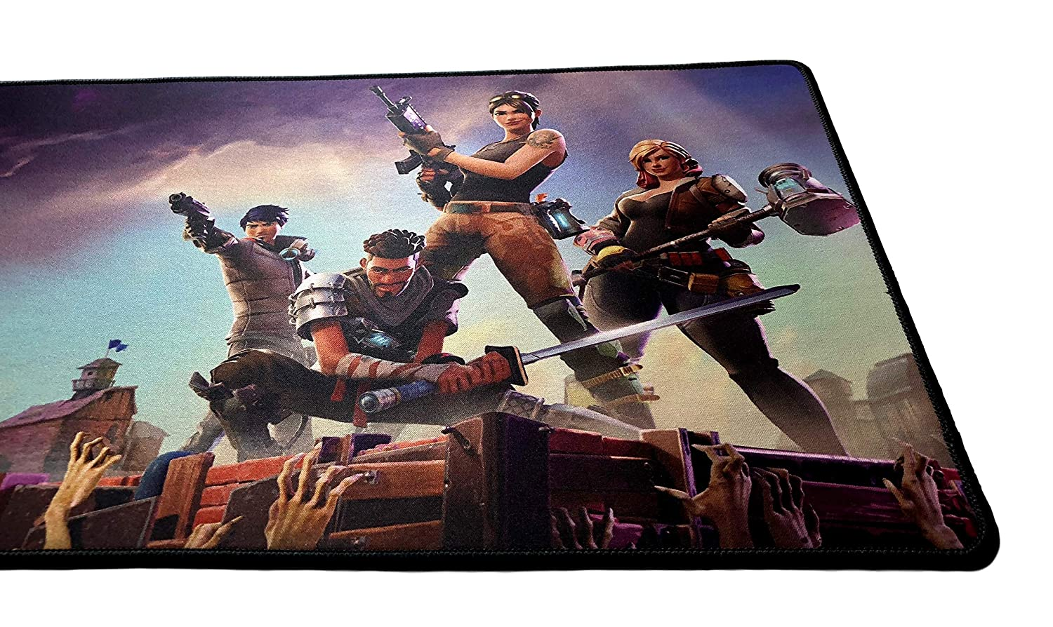 Fortnite Extended Size Custom Professional Gaming Mouse Pad - Anti Slip  Rubber Base - Stitched Edges - Large Desk Mat - 36