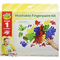Crayola My First Fingerpaint Kit, Painting Paper Included, Gift