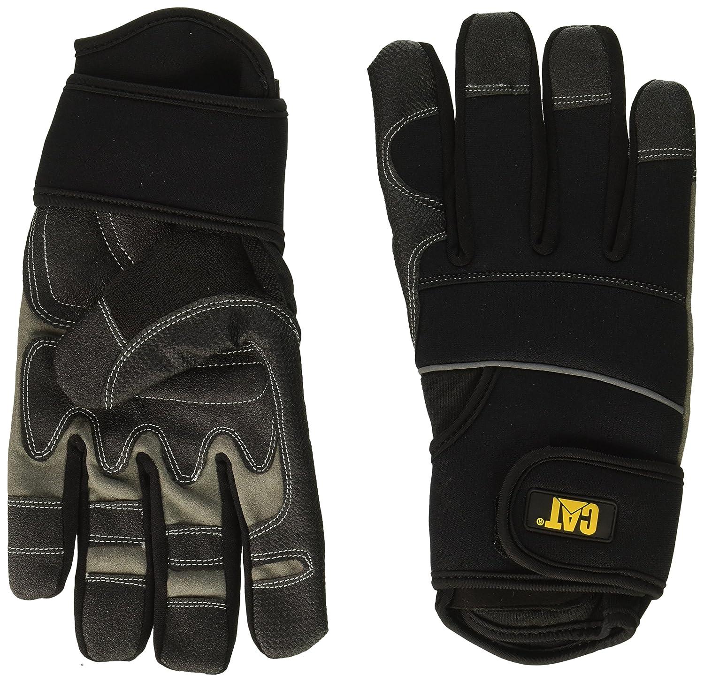Caterpillar Mens Adjustable Reinforced Work Gloves Black CAT012217J