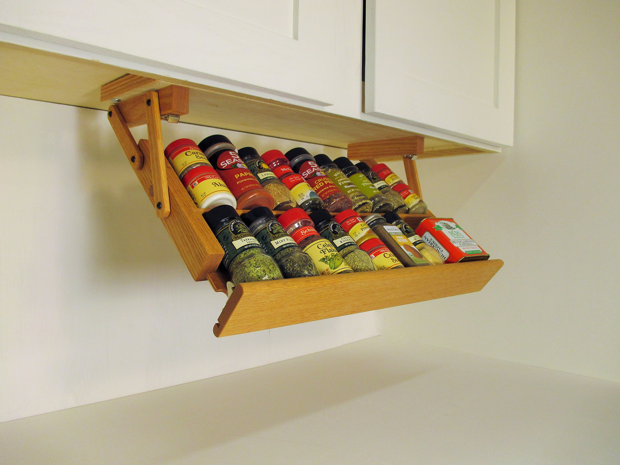 Under Cabinet Mounted Spice Rack (Unfinished) by Ultimate Kitchen Storage