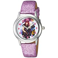 Girls Descendants 2 Stainless Steel Analog-Quartz Watch with Leather-Synthetic Strap, Purple, 15 (Model: WDS000247)